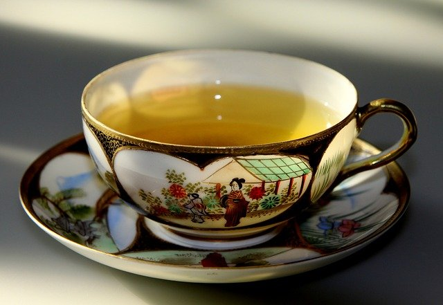 Cup of green tea.